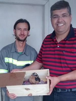 Eletricista contou com ajuda de veterinário de Mogi. Foto: Roberto da Luz/ arquivo pessoal