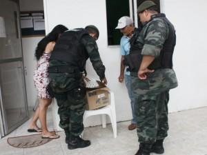 Polícia Ambiental foi acionada para encaminhar coruja para atendimento veterinário. Foto: Walter Paparazzo/G1