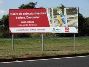 Placas foram colocadas às margens da rodovia. Foto: MGO Rodovias/Divulgação
